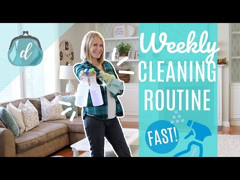 Weekly clean routine