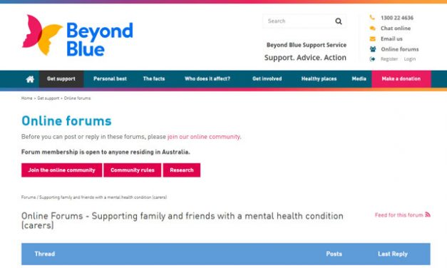 Beyond Blue Online Forums