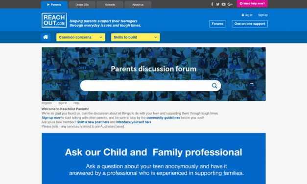 Reach out parent discussion forum