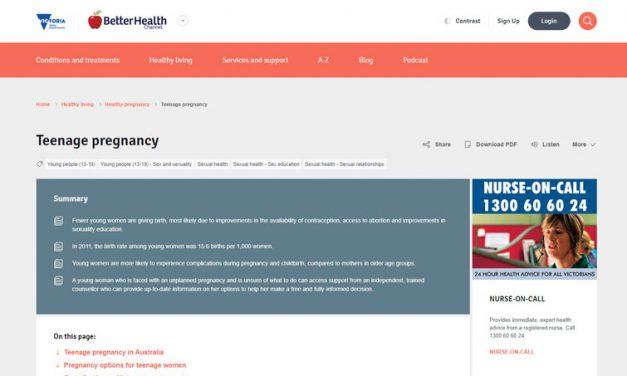 Teenage Pregnancy In Australia