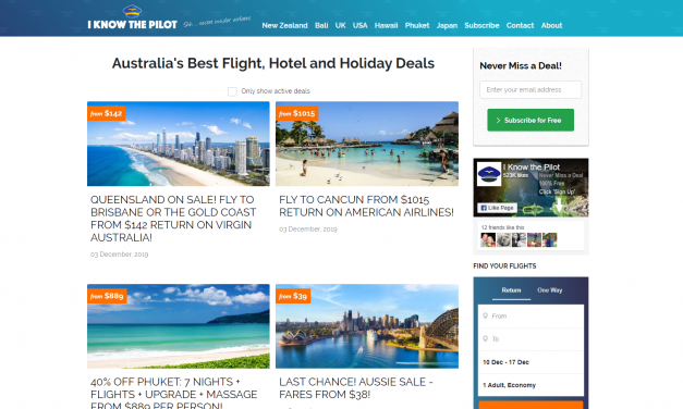 I know the pilot – Travel Deals