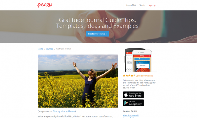 Penzu Gratitude Journal