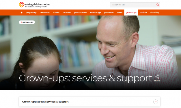 Raising children Services – Support