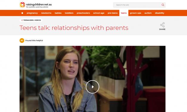 Raising children Teens talk