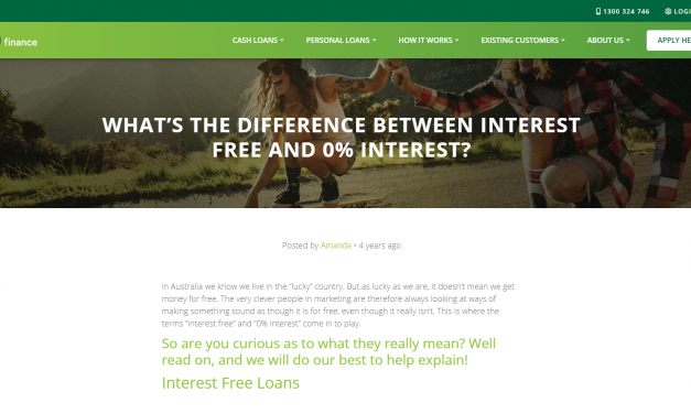 Interest free terms
