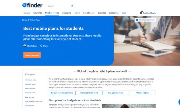 Mobile Phone Plan Finder
